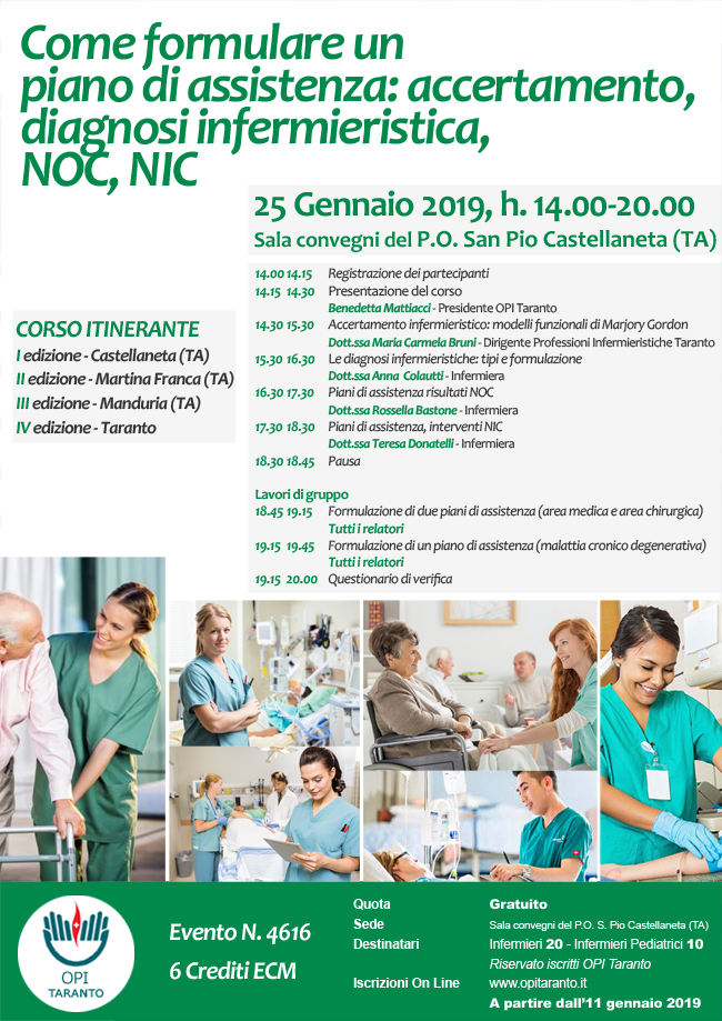 Come formulare un piano di assistenza: accertamento, diagnosi infermieristica, NOC, NIC