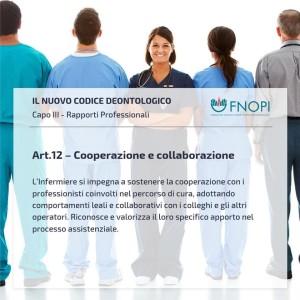 """Articolo 12 """"Cooperazione e Collaborazione"""""""