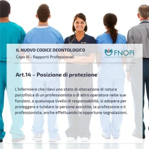 """Articolo 14 """"Posizione di protezione"""""""