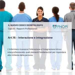 """Articolo 16 """"Interazione e integrazione"""""""