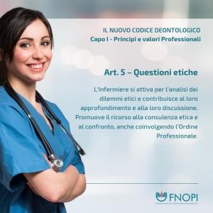 """Articolo 5 """"L'etica per noi infermieri"""""""