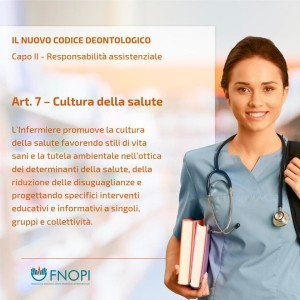 """Articolo 7 """"Cultura della salute"""""""