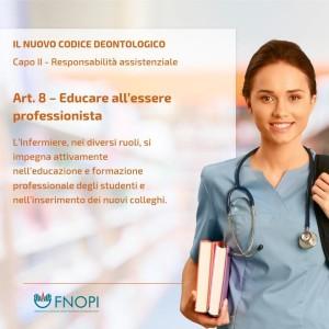 """Articolo 8 """"Educare ad essere professionisti"""""""