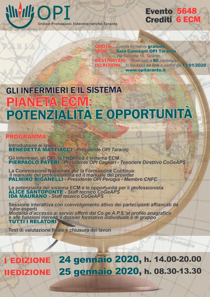 Gli Infermieri e il Sistema. Piante ECM: potenzialità e opportunità