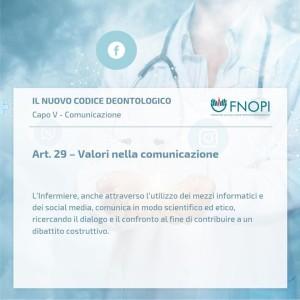 """Articolo 29 """"Valori nella comunicazione"""""""