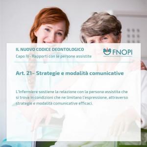 """Articolo 21 """"Strategie e modalità comunicative"""""""