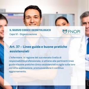 """Articolo 37 """"Linee guida e buone pratiche assistenziali"""""""