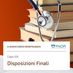 """Capo VIII """"Disposizioni Finali"""""""