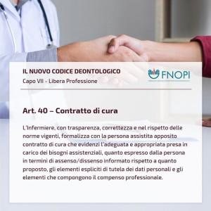 """Articolo 40 """"Contratto di cura"""""""
