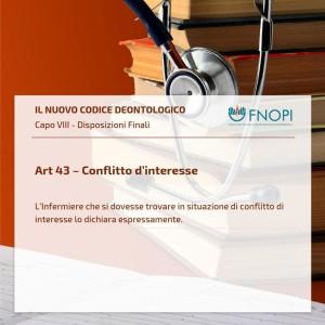 """Articolo 43 """"Conflitto d'interesse"""""""