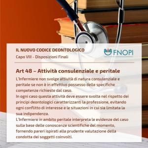 """Art. 48 """"Attività consulenziale e peritale"""""""""""
