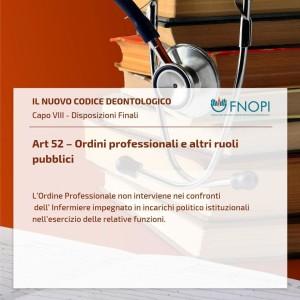 """Art. 52 """"Ordini professionali e altri ruoli pubblici"""""""